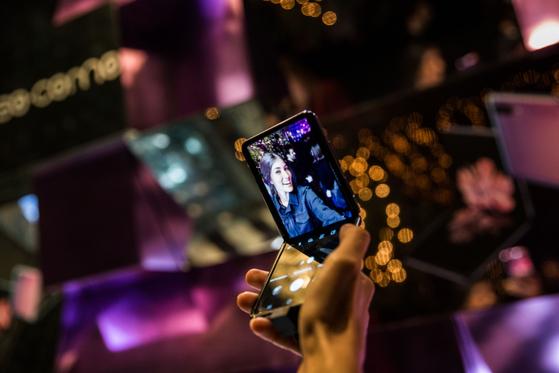 Promotional image of Samsung Electronics' Galaxy Z Flip 2 [SAMSUNG ELECTRONICS]