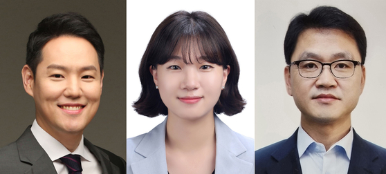 From left: Kim Han-kyu, Park Seong-min and Lee Seung-bok. [NEWS1]