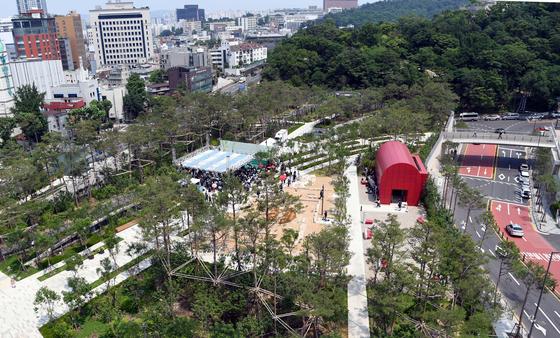 Namsan Yejang Park near Myeongdong Station in central Seoul. [YONHAP]