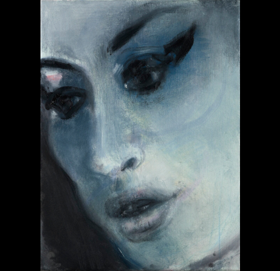 ″ Amy-Blue ″ (2011), a posthumous portrait of legendary singer-songwriter Amy Winehouse by acclaimed South African artist Marlene Dumas. [NATIONAL MUSEUM OF KOREA]