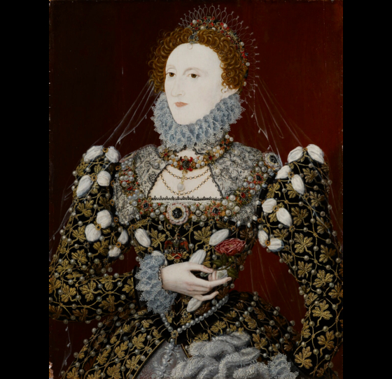 The portrait of Elizabeth I, the famous Queen of England, painted circa 1573 by Nicholas Hilliard. [NATIONAL MUSEUM OF KOREA]