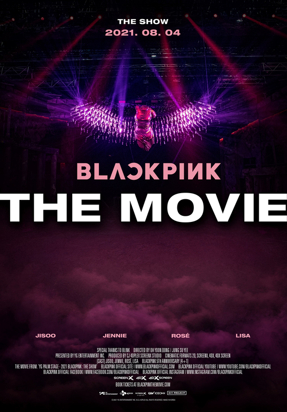 The poster for Blackpink's upcoming movie ″Blackpink The Movie″ [YG ENTERTAINMENT]