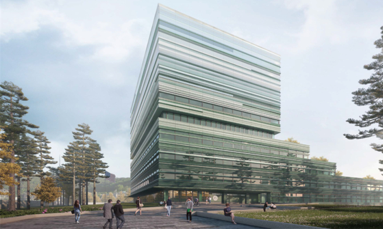 A rendering of what the new U.S. Embassy in Yongsan District, central Seoul, could look like. [SEOUL METROPOLITAN GOVERNMENT]