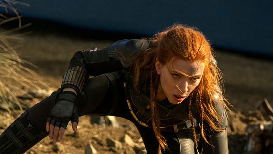 """In """"Black Widow,"""" Scarlett Johansson reprises the role of Natasha Romanoff from the Marvel Cinematic Universe. It's also the character's first solo movie. [WALT DISNEY COMPANY KOREA]"""