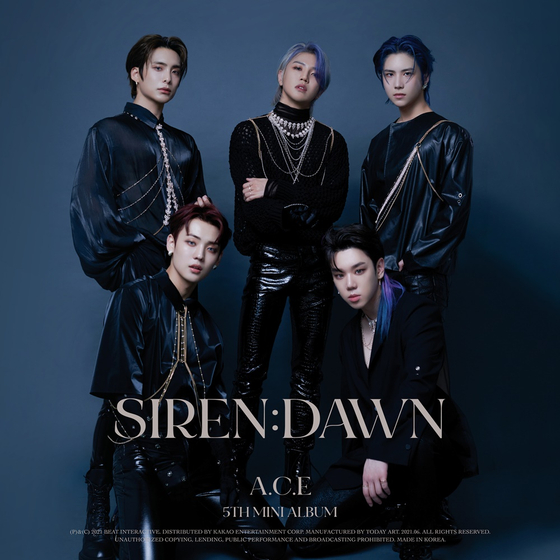 The cover image for boy band A.C.E's fifth EP ″Siren:Dawn″ [BEAT INTERACTIVE]