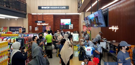 Emart24's first Malaysian store in Kuala Lumpur. [EMART24]