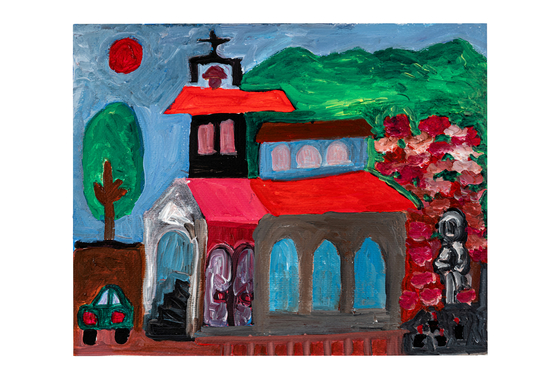 """""""Cathedral"""" (2017), acrylic on paper by artist Bae Kyung-wook [SEMA]"""