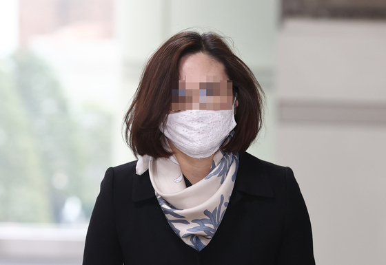 Chung Kyung-sim, wife of former Justice Minister Cho Kuk.  [YONHAP]