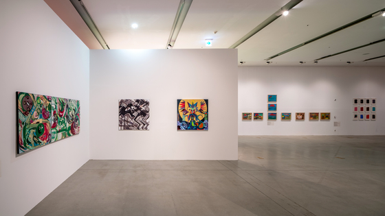 """An exhibition of works by 22 artists with disabilities, """"Shrunken Paper, Expanded World,"""" runs in Buk Seoul Museum of Art in northern Seoul through Aug. 22. [SEMA]"""