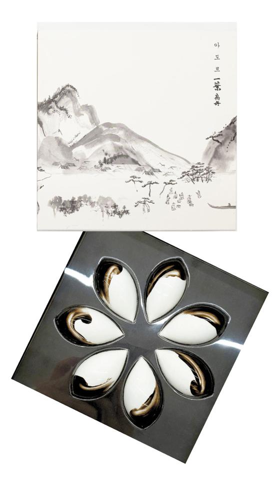 Rice winery Ellyeop Pyunjoo collates with chocolatier Adore to make soju-flavored chocolate. [ELLYEOP PYUNJOO]