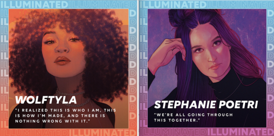 A new webtoon series titled ″Illuminated,″ a collaboration between 88rising and the Asian Americans Advancing Justice (AAJC), began on June 26. [88RISING]