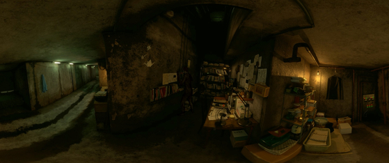 A scene from the VR content which brings to life the secret basement in the Park family's mansion. [UNESCO]