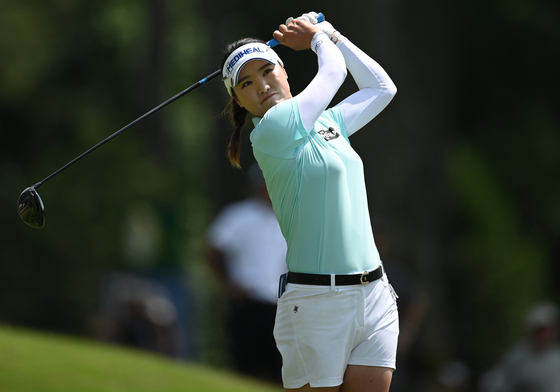 Ryu So-yeon plays her shot from the 18th tee during the first round of the KPMG Women's PGA Championship golf tournament at the Atlanta Athletic Club in Johns Creek, Georgia on June 24. [USA TODAY/YONHAP]