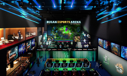 Construction of the Busan Esports Arena was completed last November. The main venue can house up to 330 spectators. [BUSAN METROPOLITAN CITY]