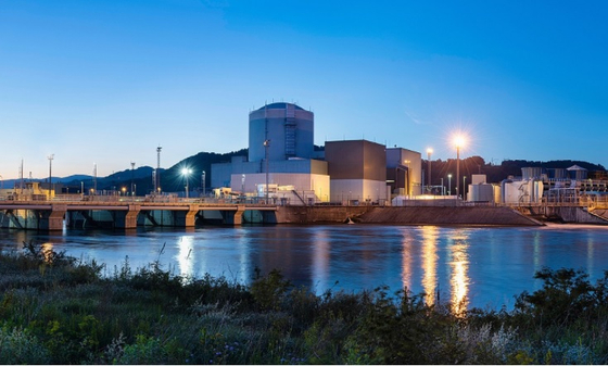 View of the Krsko Nuclear Power Plant. Korea Hydro & Nuclear Power said Monday it won a contract to supply a cooling water heat exchanger for the Slovenia Nuclear Power Corporation nuclear power plant. [YONHAP]