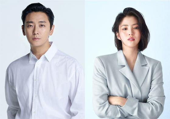 Actors Ju Ji-hoon, left, and Han So-hee have been casted for upcoming film ″Gentleman.″ [WAVVE]