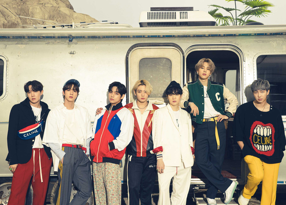 K-pop band BTS is dominating the global music streaming sites such as Billboard and Spotify. [BIG HIT ENTERTAINMENT]