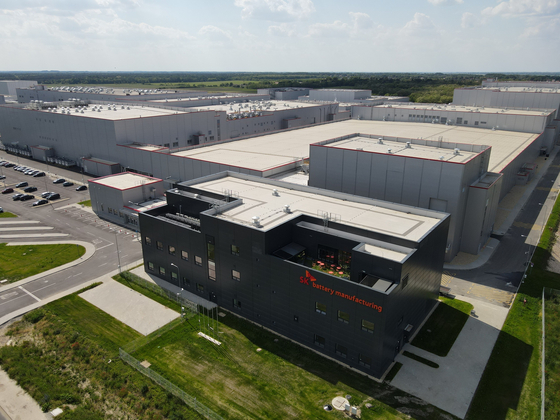 SK Innovation's second electric vehicle battery plant in Hungary, which is scheduled to operate by the first quarter of 2022. [SK INNOVATION]