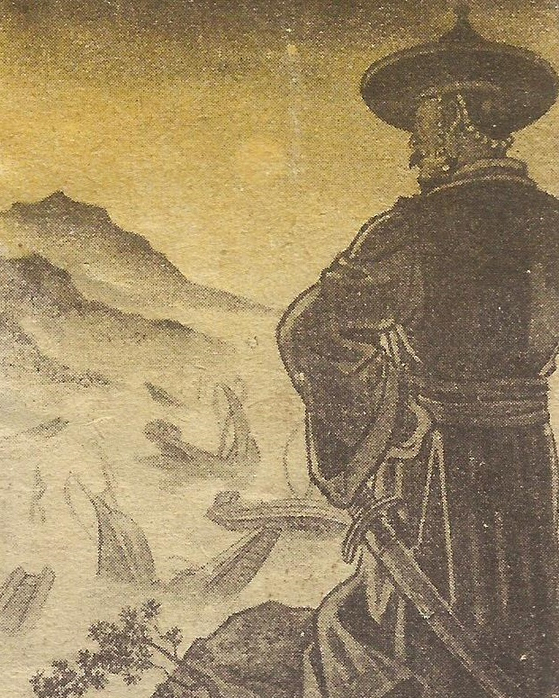 Picture shows Admiral Yi Sun-shin from the Hungarian comics, drawn by Tibor Gonczi. [HUNGARIAN EMBASSY]