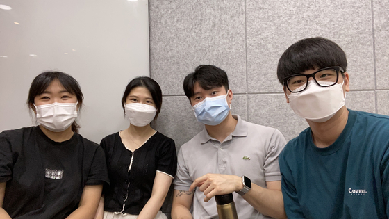 From left, Woo-dangtang members Kim Min-ji, Kim Young-bin, Jung Yoon-ho and Choi Bo-min [WOO-DANGTANG]