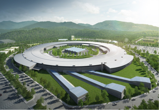 A rendered image of a new particle accelerator in Ochang, North Chungcheong  [MINISTRY OF SCIENCE AND ICT]