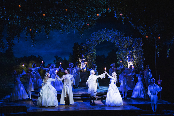 Korean production of the musical ″Marie Antoinette″ is being staged at the Charlotte Theater. [EMK MUSICAL]