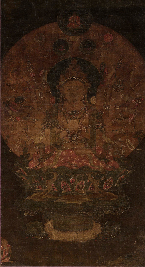 ″Thousand-Armed Avalokiteshvara″(14th century) from Goryeo Dynasty is part of the special exhibition of the donated Lee Kun-hee collection. The painting is designated as Treasure No. 2015.  [NATIONAL MUSEUM OF KOREA]