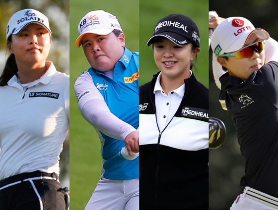 Ko Jin-young, Park In-bee, Kim Sei-young and Kim Hyo-joo  [EPA, AP/YONHAP]