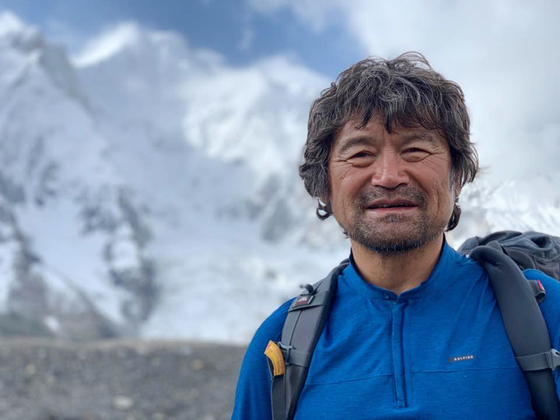 Mountaineer Kim Hong-bin is seen at base camp before climbing Broad Peak on July 19. Kim went missing during his descent from the apex. [YONHAP]