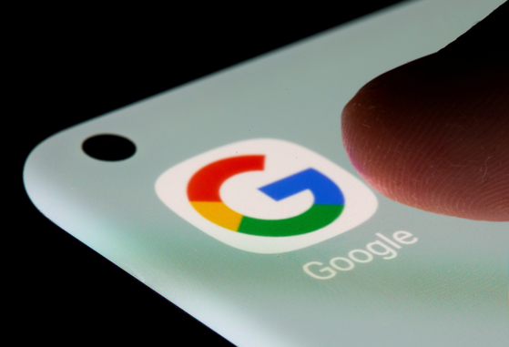 Google app is seen on a smartphone in this illustration taken, July 13, 2021. [REUTERS/YONHAP]