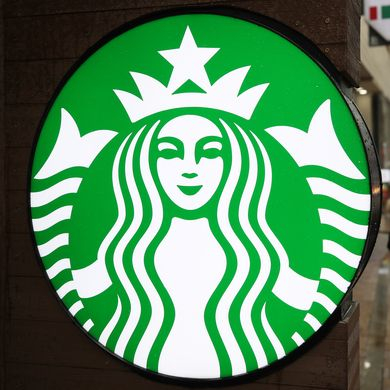 Starbucks logo at a store in Myeongdong, central Seoul, in February [YONHAP]