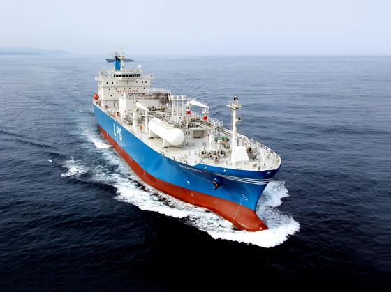 An LPG carrier built by Korea Shipbuilding & Offshore Engineering. [YONHAP]