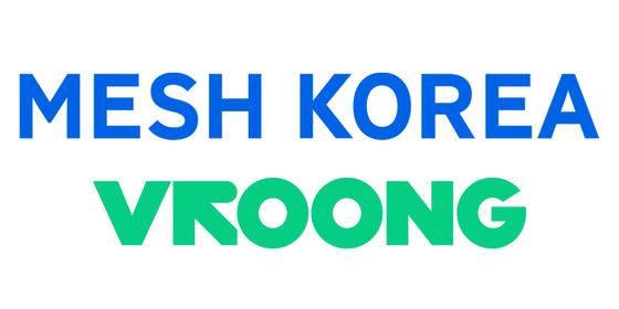 A logo of Mesh Korea and its delivery application Vroong. [MESH KOREA]