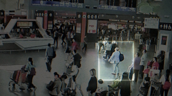 CCTV footage of Kim Jong-nam at Kuala Lumpur International Airport , just minutes before he was killed.[THE COOP]