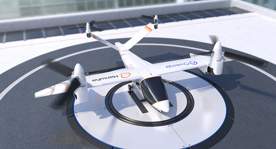 Butterfly air taxi jointly being developed by Hanwha Systems and Overair [HANWHA GROUP]
