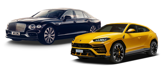 Left: Bentley's Flying Spur V8 Right: Lamborghini's Urus [BENTLEY MOTORS KOREA, AUDI VOLKSWAGEN KOREA]