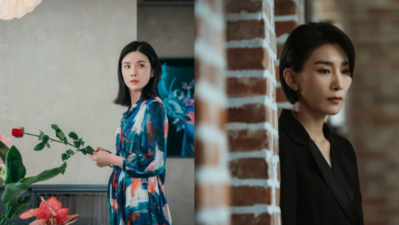 ″Mine,″ a 16-episode TV drama series featuring actors Lee Bo-young, left, and Kim Seo-hyung, was directed by Lee Na-jeong. [TVN]