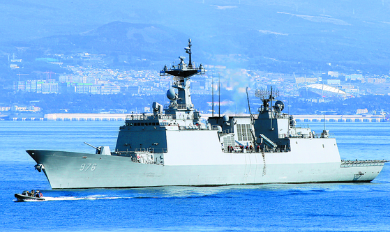 On the Munmu the Great destroyer, 90 percent of the 301 crew members were infected with the coronavirus. [YONHAP]