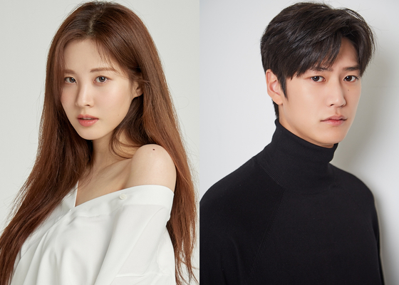 Actor and singer Seohyun, left, and actor Na In-woo [ILGAN SPORTS]
