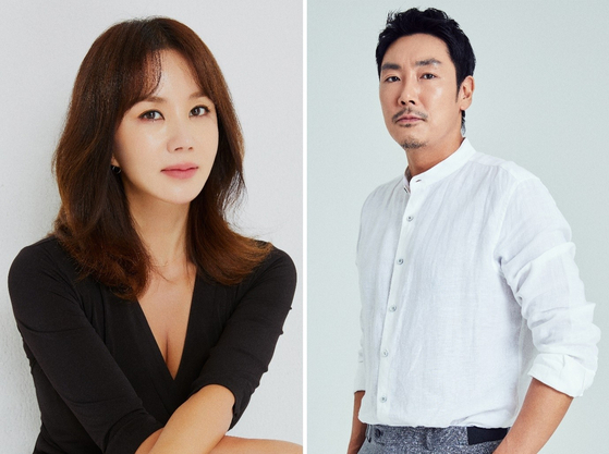 Actors Uhm Jung-hwa, left and Cho Jin-woong [SARAM ENTERTAINMENT]