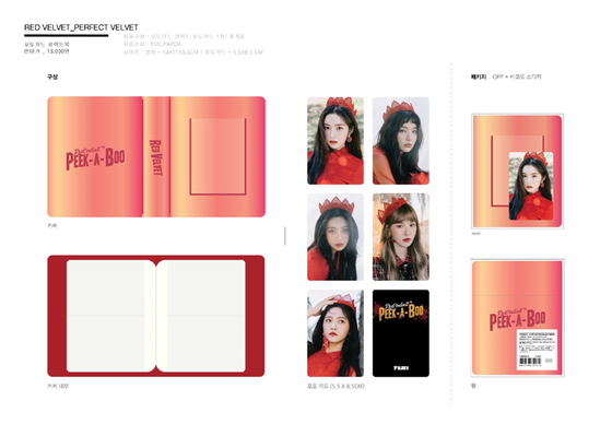 """An image showing the """"components"""" of girl group Red Velvet's album """"Perfect Velvet"""" (2017). [SCREEN CAPTURE]"""