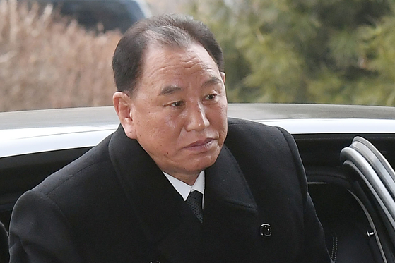 """Kim Yong-chol, a department director of the Central Committee of the North's ruling Workers' Party, is pictured in a file photo. In a statement Wednesday, Kim, in charge of handling inter-Korean affairs, warned of a """"serious security crisis"""" in protest of Seoul and Washington's joint military exercise. [YONHAP]"""