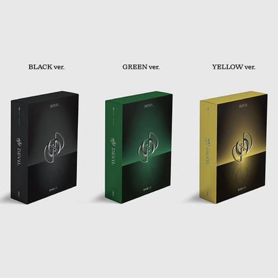 """Boy band Oneus's album """"Devil"""" (2021) was released in three different versions. [SCREEN CAPTURE]"""
