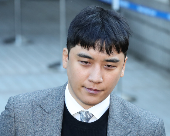 In this file photo, Seungri, former member of Big Bang, leaves the Seoul Central District Court on Jan. 13, 2020, after a warrant hearing. [YONHAP]