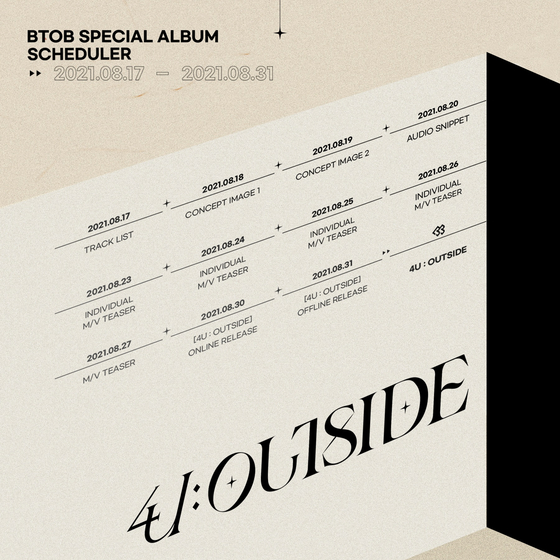The countdown schedule for BTOB's upcoming album [CUBE ENTERTAINMENT]