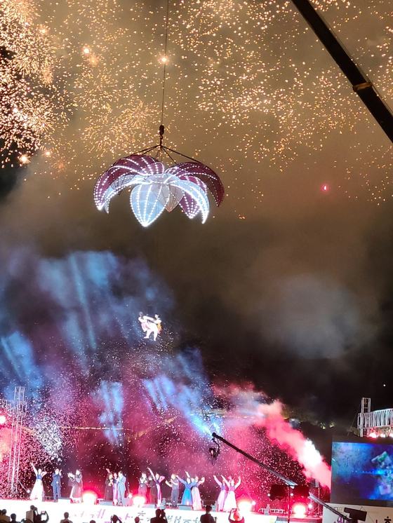 The opening festival held in Gongju, South Chungcheong, on Aug. 13. [JANG NAM-MI]