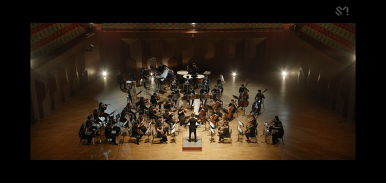"""The SM Classics Town Orchestra performing """"Make A Wish (Birthday Song) (Orchestra Ver.)"""" [SCREEN CAPTURE]"""