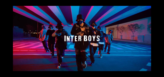 Inter Boys is a new boy band produced by online shopping mall Interpark. [SCREEN CAPTURE]