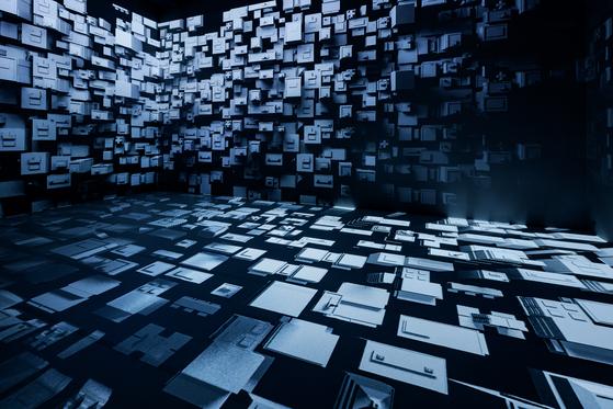 A scene from ″Finite″(2021), an immersive audio-visual installation work by artist Yiyun Kang [PKM GALLERY]