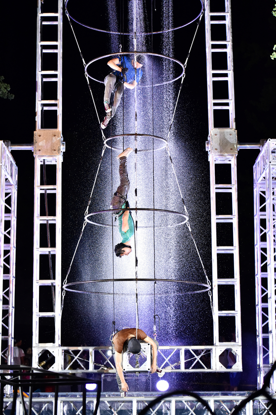 Project Nalda uses many different aerial apparatus during their performances. [PROJECT NALDA]